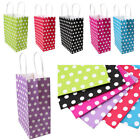 Polka Dot Paper Bag Handle Bags Party Gift Favor Wedding Birthday Shopping Decor