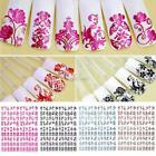 Flower Nail Decal Nail Art Stickers Tips Stamping DIY Decoration DZ88