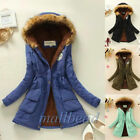 Women Warm Long Coat Fur Collar Hooded Jacket Slim Winter Parka Outwear Coat New