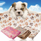 Pet Mat Small Large Paw Print Cat Dog Puppy Fleece Soft Blanket Bed Cushion New