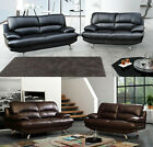 Samara Leather Sofa 3 + 2 Seater Set Brown Settee Couch Variations