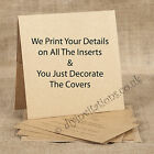 Personalised Rustic Kraft Pocketfold Invitations & Inserts & Envelopes - Sample