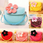 Внешний вид - Little Girls Mini Cute 3D Flower Plush Handbag Shoulder Bag Cross-body Bag Purse