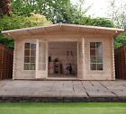 5 x 3 WOODEN GARDEN LOG CABIN TONGUE AND GROOVE CLAD NEW EXECUTIVE OUTDOOR CABIN