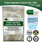 EMPTY VEGETARIAN CAPSULES SIZE 0 00 000 Halal/Kosher Vegetable Veggie Caps Vcaps