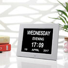 8 LED Dementia Digital Calendar Day Clock Extra Large Time Day/Week/Month/Year
