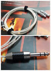 1x Pure Silver Cable For Focal Utopia Ultra Headphone Stereo Carbon Plug