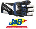RST Stunt III CE 2123 Short Leather Gloves Blue Motorcycle NOW ONLY £29.99! J&S
