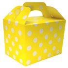 YELLOW POLKA DOTS Kids Party Lunch Boxes Birthday Box Wedding Food Bag Meal Gift