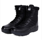 Army Tactical Comfort Leather Combat Military Ankle Boots Mens Army Shoes NEW