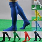 Mens Women Boys Sports Football Soccer Rugby Plain Long Socks Knee High Sock