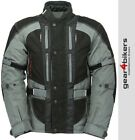 SALE Buffalo Endurance Leather Textile Motorcycle Jacket Grey Touring Commuting