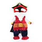 Pet Small Dog Cat Pirate Costume Outfit Jumpsuit Cloth for Halloween Christmas.J