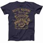Death Machine Motorcycle T Shirt Shovel Head Engine Funny Biker S Classic Tee image