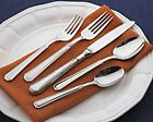 NEW Pfaltzgraff Providence Glossy Stainless Flatware 5 pc, TBS, GRAVY Teaspoons