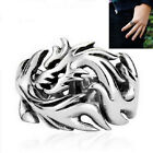 1 Pcs Biker Men's Ring Dragon Pattern Stainless Steel Gothic Dragon Claw GE