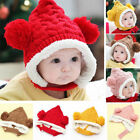 Cute Baby Girl&Boy Toddler Winter Beanie Warm Hat Earflap Crochet Knit Cap Kids
