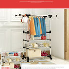 Home Metal Coat Rack Hall Stand Clothes Shoes Hat Rack Steel Hanger Holder HP