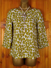 NEW WHITE STUFF RHODES TOP LADIES GREEN IVORY TUNIC BLOUSE UK SIZE 8-18 RRP 37