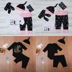 Christmas Toddler Baby Boy Girl Romper Pants Leggings Outfits Clothes Set Gifts