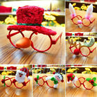 Cute Christmas Ornaments Glasses Frames Evening Party Toy Kids Xmas Gifts Decor