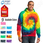Port & Company Tie-Dye Pullover Hooded Sweatshirt With Pockets M-PC146