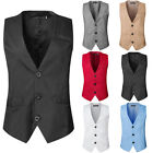 2017 Men's Formal Business Casual Dress Vest Suit Slim Fit T