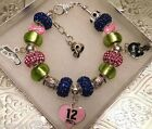 NFL SEATTLE SEAHAWKS Crystal Bracelet Breast Cancer Awareness     FREE SHIPPING! $28.04 USD on eBay