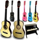 ADULT CHILDRENS WOODEN ACOUSTIC GUITAR GRAND PIANO MUSICAL INSTRUMENT XMAS GIFT