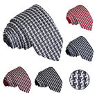 New DQT Premium Knit Knitted Houndstooth Casual Formal Men's Slim Tie