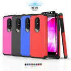 BRUSHED ARMOR SHOCKPROOF COVER PHONE CASE FOR [ALCATEL ZIP LTE] +TEMPERED GLASS