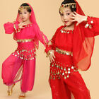 Childrens Belly Dance Costume Set Girl Indian Dance Clothing Suit Professional