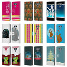 HEAD CASE DESIGNS MIX CHRISTMAS COLLECTION LEATHER BOOK WALLET CASE FOR LG G6