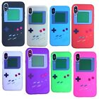 For Apple iPhone X - Soft Rubber Silicone Skin Case Cover Gameboy Player System