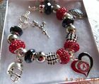 NCAA ALABAMA CRIMSON TIDE Crystal Charm Bracelet w bonus charms FREE SHIPPING!!!