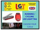 LED Clip on Jogging Running Safety Warning Light Cycling Bike helmet Lamp!