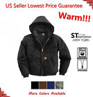 Men Sandstone Canvas Quilted Thermal Lined Active Industrial Winter Duck Jacket