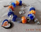 MLB New York Mets Crystal European Team Charm Bracelet       FREE SHIPPING!!! on Ebay