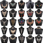 New Women Pendant Chain Rhinestone Choker Chunky Statement Bib Necklace Jewelry