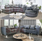 San Remo Corner Sofa & 3 + 2 Seater Sofa Set Bonded Leather Black or Brown
