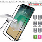 For iPhone X 9H HD 2.5D Front Full Cover Tempered Glass Film Explosion-Proof Lot