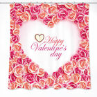 Bath Mat Shower Curtain Polyester Rose of love Waterproof Valentine's Day 6208