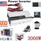Car Power Inverter 4000W 12V - 110V / 220V Camping Caravan Modified Sine Wave US