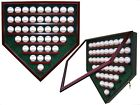 43 BASEBALL HOMEPLATE SHAPED DISPLAY CASE - SPORTS DISPLAY CASE