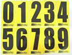 4 x Black numbers on Yellow background -Iame-X30 Rotax Cadet Karting Race Number
