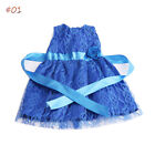 Zapf Baby Born Doll Clothes Bowknot Princess Dress Fit 18 inch American girl