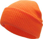 Soft Ribbed Beanie Knit Ski Cap Skull Hat Warm Solid Color Winter Cuff Blank