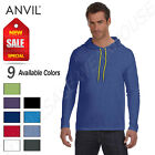 Anvil 100% Cotton Lightweight Long Sleeve Hooded T-Shirt M-987AN