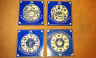 Ringtons Collectors Plates with box, blue china, gold trim, choice of four