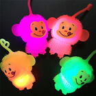 Flashing Light Up Ball Glowing Bouncing Ball Rubber Novelty Child Squeeze Toys